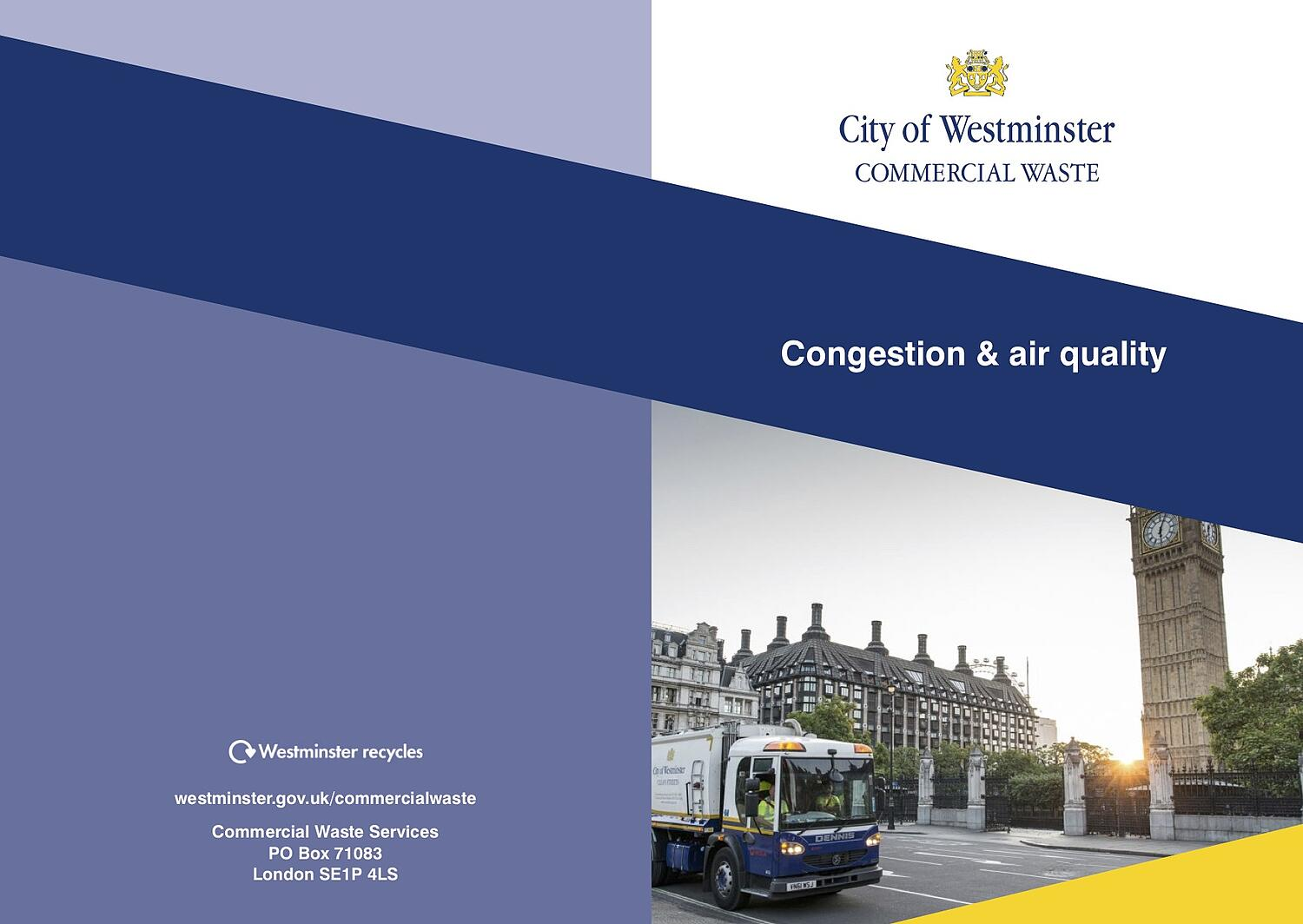 WCC Congestion & air quality leaflet cover