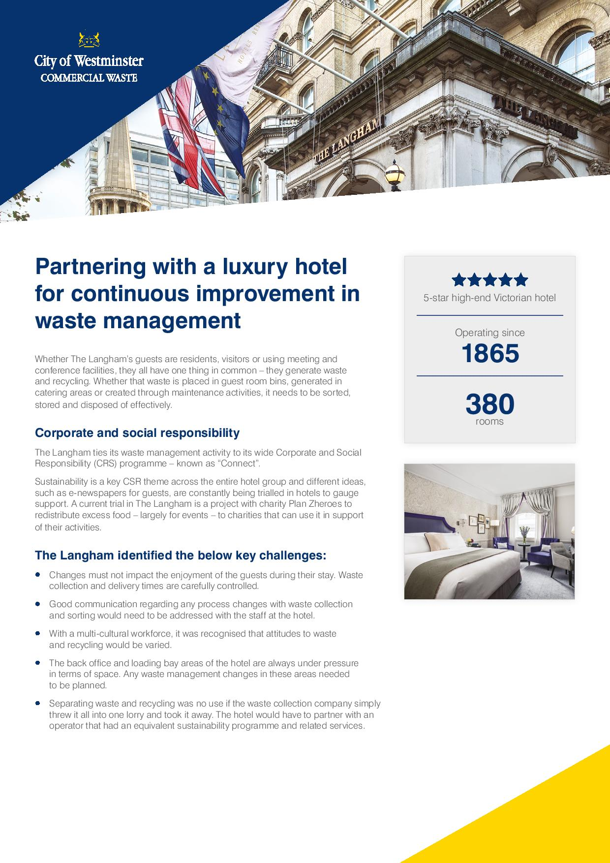 Westminster City Council Commercial Waste Services The Langham London Hotel Case Study (2)-page-001